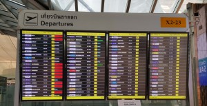 Airport flight list