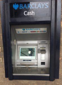 Cashpoint problems (ATM)